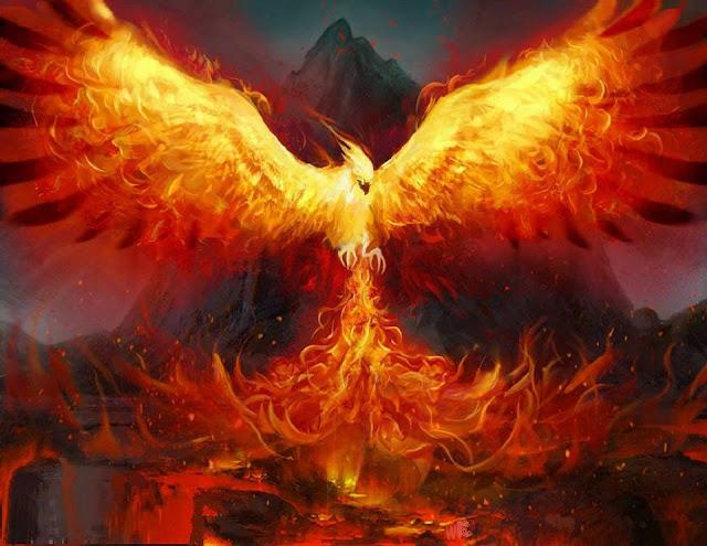 l'araba fenice è il fuoco ardente dell'Anima che risorge da se stessa ad ogni reincarnazione