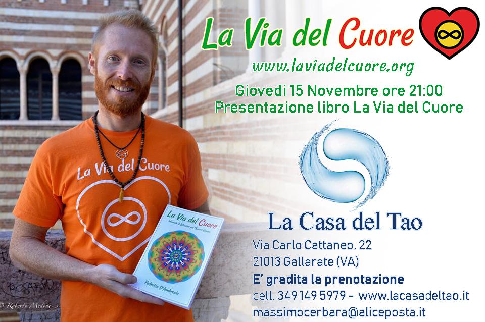 Conferenza gratuita di presentazione del libro: La Via del Cuore con Federico D'Ambrosio
