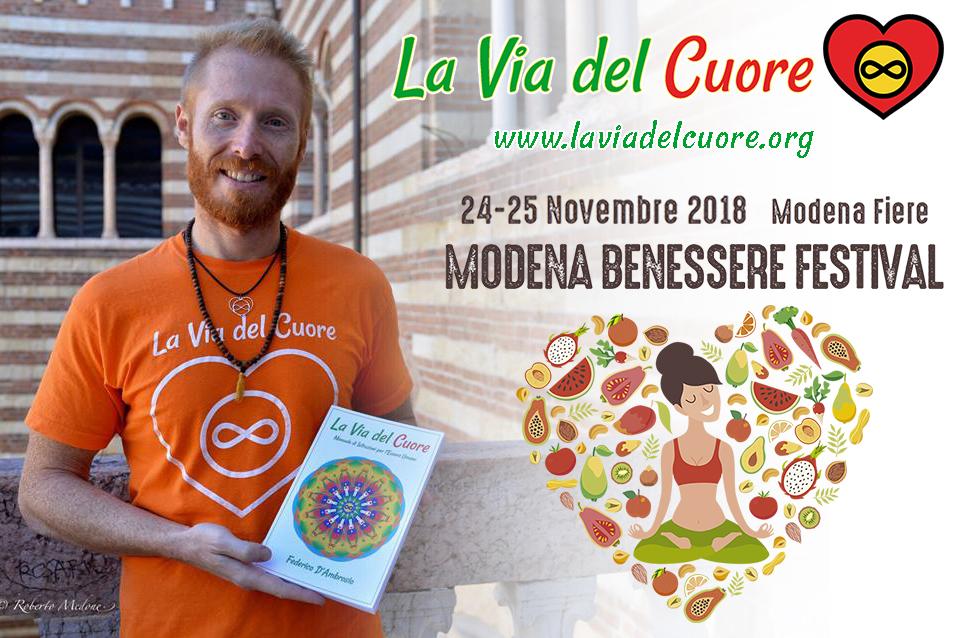 Modena Benessere Festival 2018 con Federico D'Ambrosio La Via del Cuore