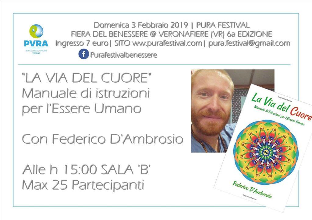 Conferenza Federico D'Ambrosio Libro canalizzato la Via del Cuore