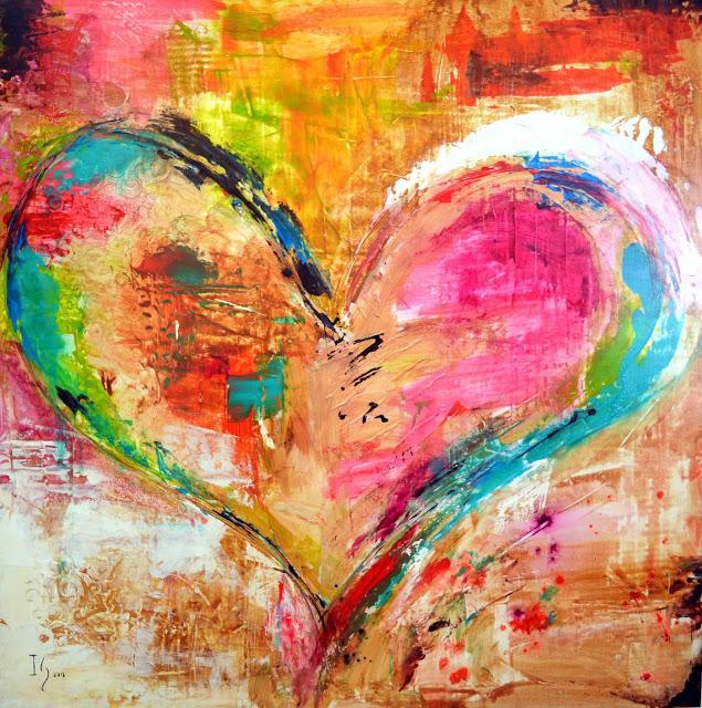 cuore dipinto col cuore