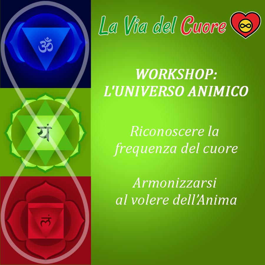 WORKSHOP I 3 CENTRI DELLA COSCIENZA: Universo Animico con Federico D'Ambrosio La Via del Cuore