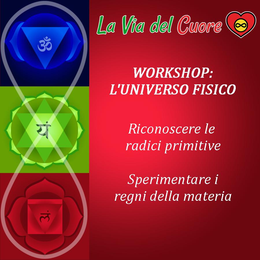 WORKSHOP I 3 CENTRI DELLA COSCIENZA: Universo Fisico con Federico D'Ambrosio La Via del Cuore