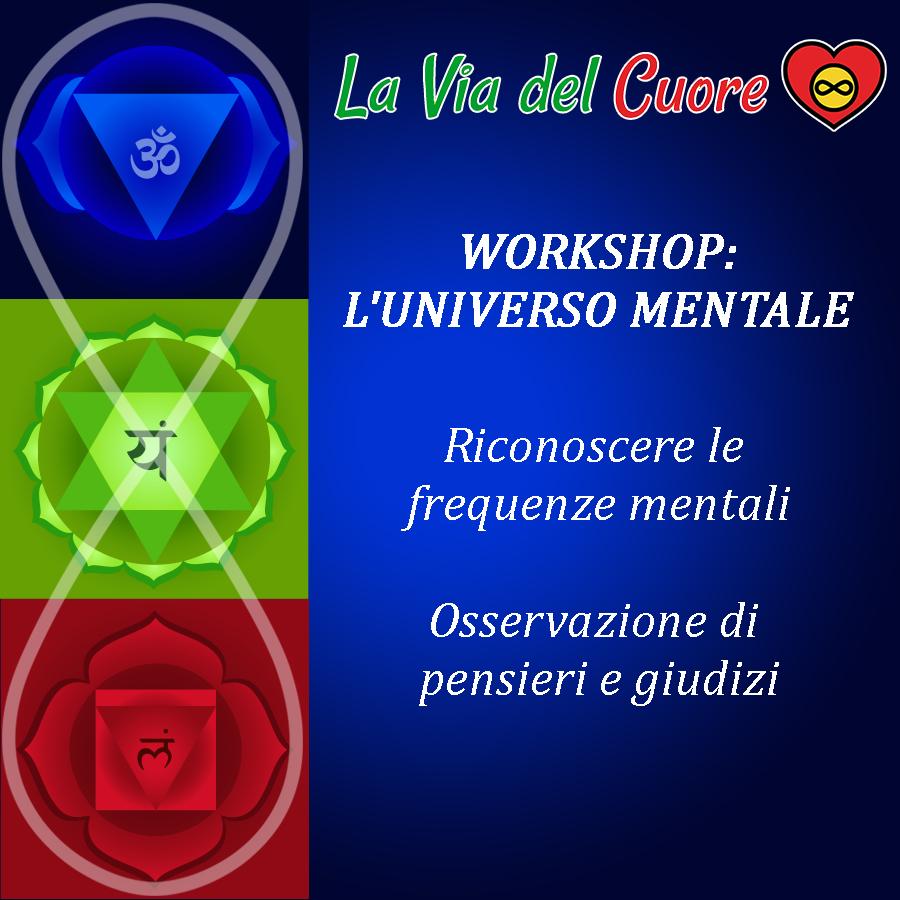 WORKSHOP I 3 CENTRI DELLA COSCIENZA: Universo Mentale con Federico D'Ambrosio La Via del Cuore