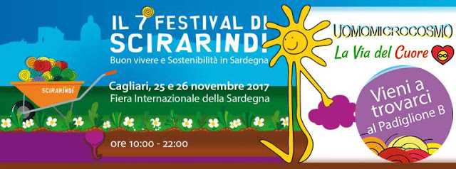 Festival Scirarindi a Cagliari. Buon vivere e sostenibilità in Sardegna
