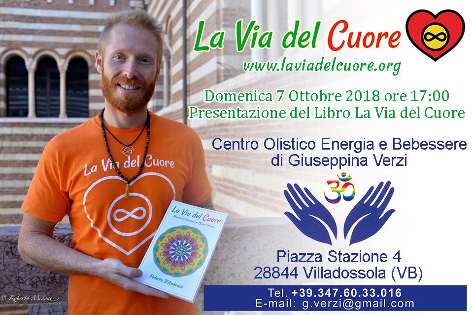 Conferenza sul libro La Via del Cuore presso Centro Olistico Energia e Benessere con Federico D'Ambrosio