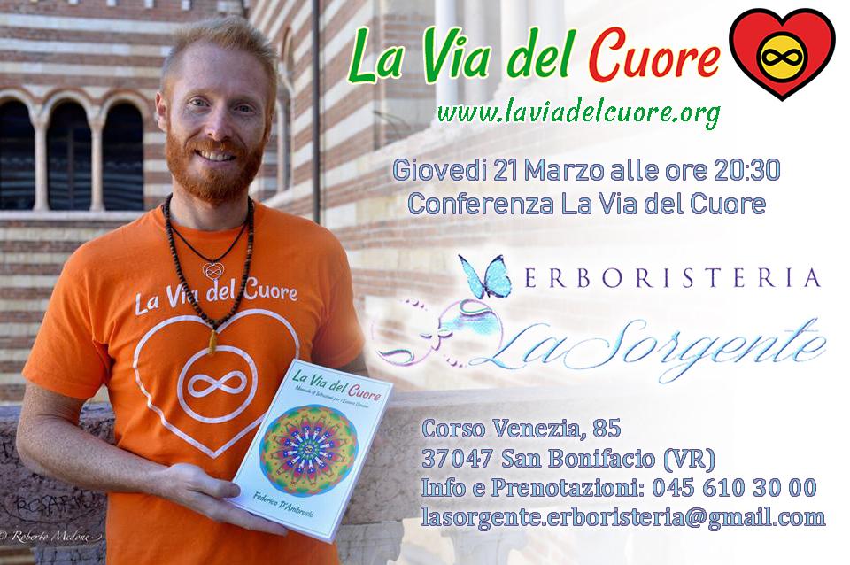 La Via del Cuore all'Erboristeria La Sorgente a San Bonifacio Verona